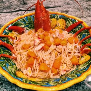 spicy lobster pasta