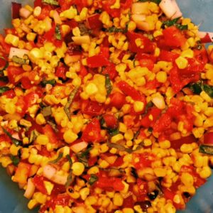 corn tomato and red onion salad