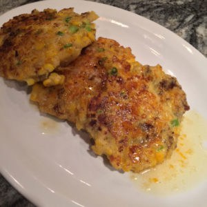 corn griddle cakes with sausage