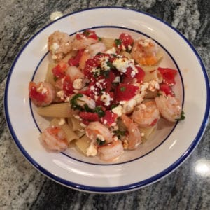 greek shrimp and rigatoni