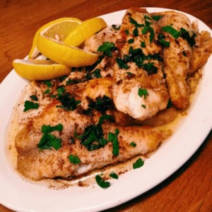 sautéed fish with lemon brown butter