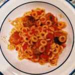 spaghetti o's and mini meatballs