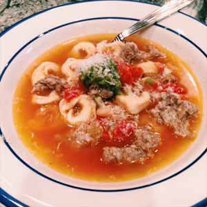 sausage white bean and tortellini soup