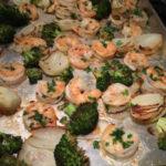 sheet pan garlicky shrimp and veggies