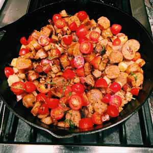 hearty italian sausage and potatoes
