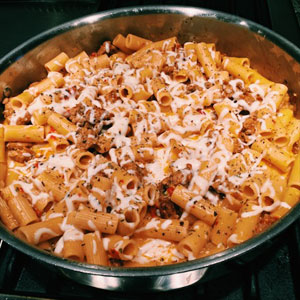 italian sausage and rigatoni skillet dinner