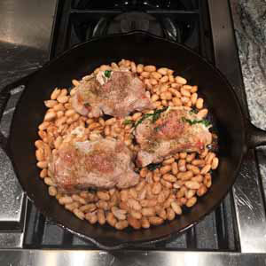 pork chops and beans