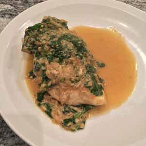 creamed chicken spinach